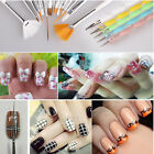 20pcs Nail Art Design Set Dotting Painting Drawing Polish Brush Pen Makeup Tools