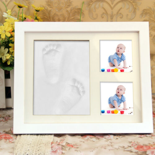 Baby Hand and Foot Print Kit with Photo Frame Newborn Unique Keepsake Gift