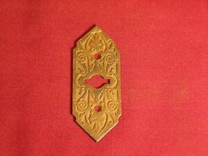 Antique-Bronze-Keyhole-Cover-Escutcheon-Plate-Eastlake-Victorian