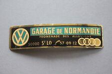 LE Ancien autocollant garage Normandie Saint Lo promenade des alluvions AUDI WW
