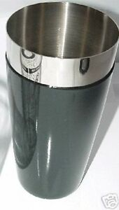 COCKTAIL-SHAKER-MIXING-TIN-Bartending-Flair-Stainless-Black-Vinyl-Coated-Bartend
