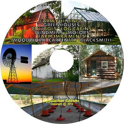 Farm Building Barn Poultry House Cabin Greenhouse Wind Mill Energy Blacksmith CD