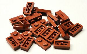 NEW-x25-Lego-Plates-Reddish-Brown-Plate-1x2-1-x-2