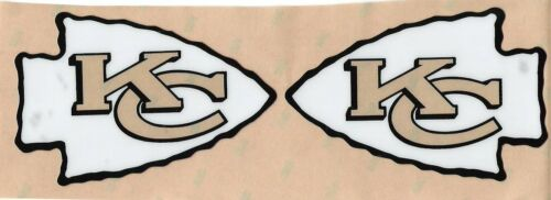 Kansas City Chiefs FULL SIZE FOOTBALL HELMET DECALS W//BUMPERS
