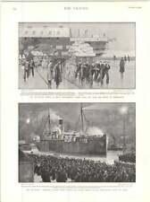 1899 BIRKENHEAD PORTO NAVE DA TRASPORTO TRUPPE lasciando Naval distacco KIT CARRO