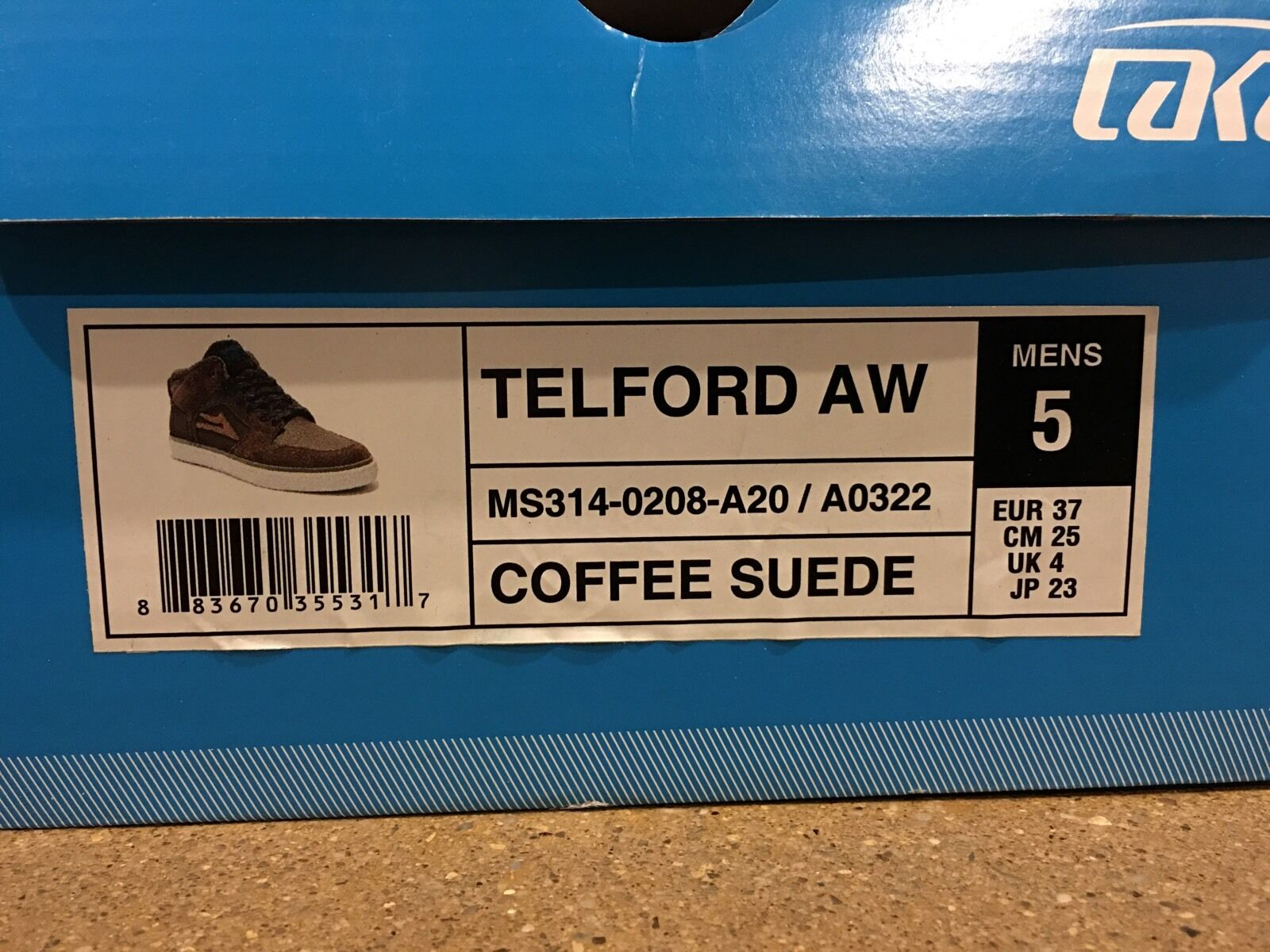 Lakai Telford Weather AW Size 5 Coffee Suede Weather Telford Treated SB BMX DC Skate Shoes 9047dc