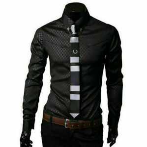 Fashion-Mens-Luxury-Casual-Dress-Shirt-Stylish-Slim-Fit-Long-Sleeve-Men-Shirts