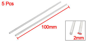 5Pcs-Lathe-100mm-x-2mm-304-Stainless-Steel-Axle-Round-Rod-Stock-Drill-Bar