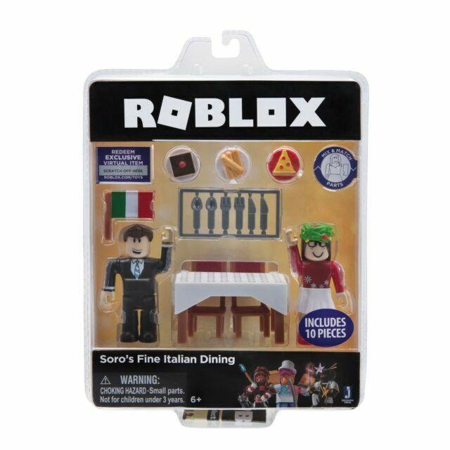 Roblox Soro/'s Fine Italian Dining Miniature Figure 2-Pack With Virtual Item Code