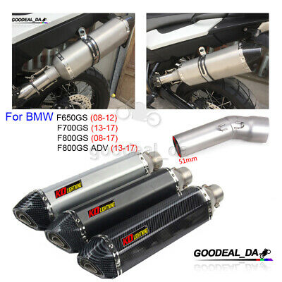 F700GS 13-17 F800GS ADV 13-17 Motorcycle Exhaust Muffler Middle Link Pipe For F800GS 2008-2017 F650GS 2008-2012