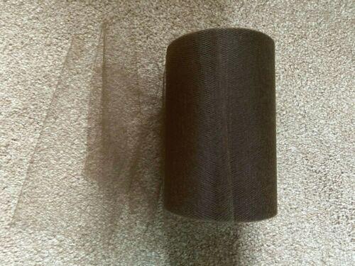 15 m de 150 mm Large Soft nylon Café//marron tulle filet Tissu Mariage//Tutu