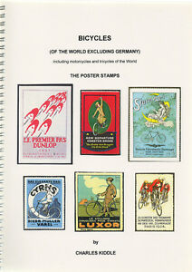 I-B-CK-Cinderella-Catalogue-Poster-Stamps-Bicycles-excluding-Germany