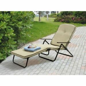 Fabulous Details About Outdoor Padded Chaise Lounge Chair Seat Deck Garden Furniture Folding Beach Yard Machost Co Dining Chair Design Ideas Machostcouk
