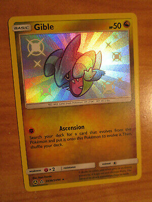 Gible Pokemon Hidden Fates SV38//SV94 Shiny Rare M//NM