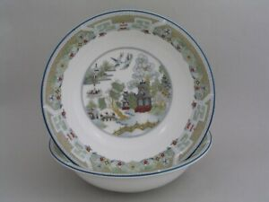 TWO-WEDGWOOD-CHINESE-LEGEND-6-034-CEREAL-BOWLS
