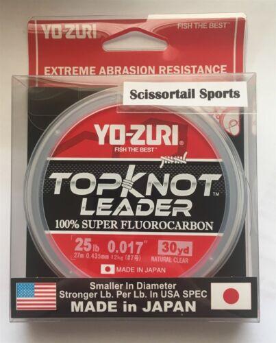 YO-ZURI TOPKNOT LEADER 100 lb 30 Yds 100/% Super Fluorocarbon