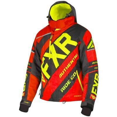 Black//Red, X-Large FXR Mens Track Quilted Zip-Up