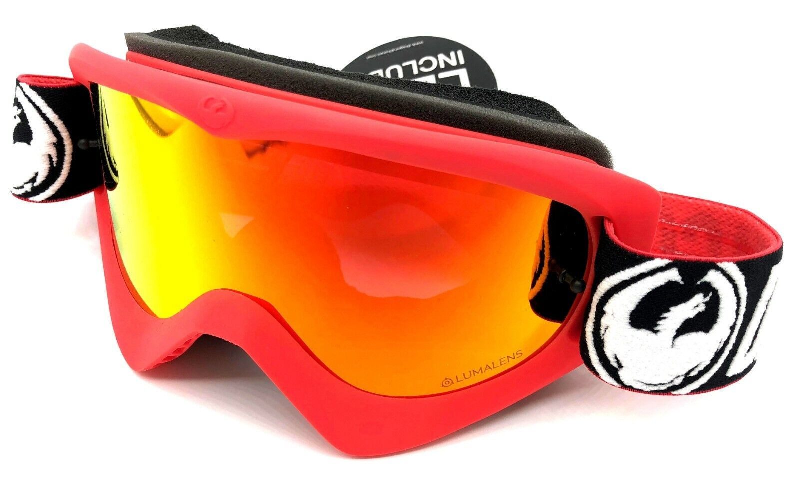 NEW Dragon MDX MX-17002 Factory - Lumalens Red Ion +1 Clear Lens Snow Goggles