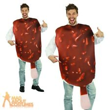 Mens Ladies Ice Cream Costume Adults Chocolate Lolly Fancy Dress Novelty Stag