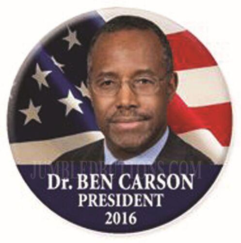 "Ben Carson 2016 2.25/"" CAMPAIGN Pinback BUTTON Dr"