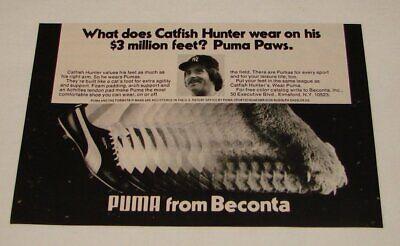 1976 Catfish Hunter Puma Schuhe Ad ~14x20.3cm~ Ny Yankees GüNstige VerkäUfe Baseball & Softball