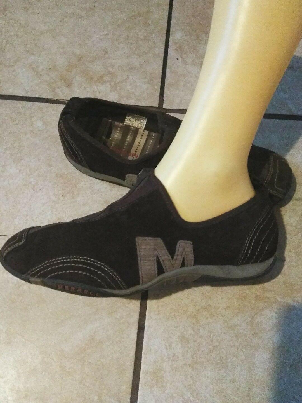 chaussures en cuir marron    s merrell barrado marche athlétique suède 8,5 Marron  8c9c0c