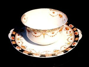 Beautiful-Early-Imari-Serving-Bowl-And-Under-Plate