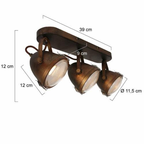 LED Decken Lampe braun Industrie Strahler beweglich Wohnzimmer Flur Spot Leuchte