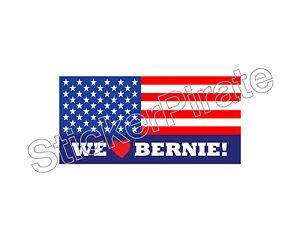 car magnet we love bernie sanders for president bumper sticker trm