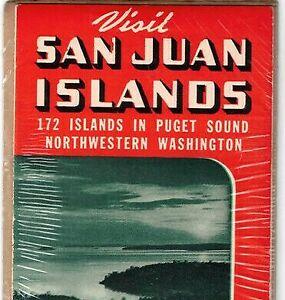 1955 Puget Sound Washington San Juan 172 Islands Resort Guide Brochure Vintage