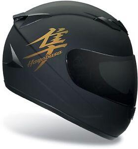 4 x gold suzuki hayabusa motorrad aufkleber f r helm moto. Black Bedroom Furniture Sets. Home Design Ideas