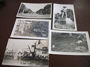 Vintage Dodge City - Boot Hill - Photo Postcard Lot of 6 - Undivided - Unused