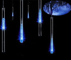 Led Icicle String Lights With Ice Drop : Meteor Shower Falling Star/Rain Drop/Icicle Snow Fall LED Xmas Tree String Light eBay