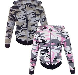 NEUF-filles-rose-camouflage-ARMEE-VESTE-age-2-3-4-5-6-7-8-9-10-11-12-13