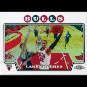 LARRY HUGHES 2008-09 TOPPS CHROME REFRACTOR