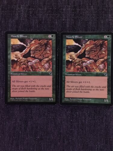 Muscle Sliver Tempest Magic the Gathering MTG LP//MP
