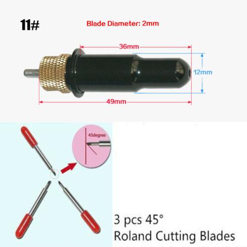 Redsail Blade Holder+3 pcs 45 Degree Roland Cutting Blade Vinyl Cutter Plotter