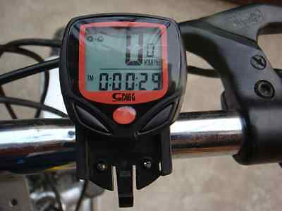 Waterproof Wired LCD Odometer Speedometer for Bike Bicycle Cycling Computer IFA