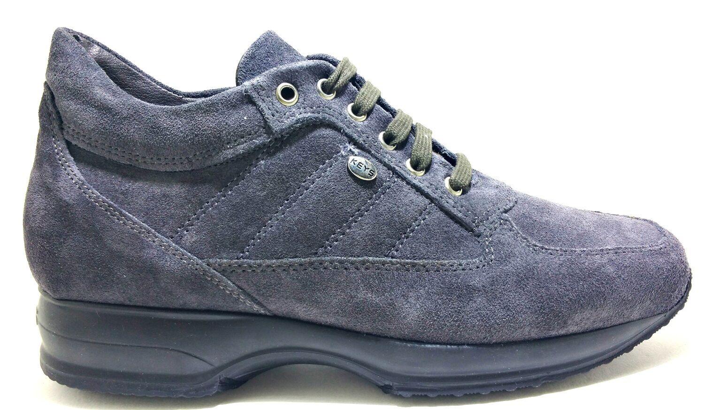 KEYS KEYS KEYS donna 1034 CAMOSCIO GRIGIO scarpe donna KEYS pelle sneaker   399ab4