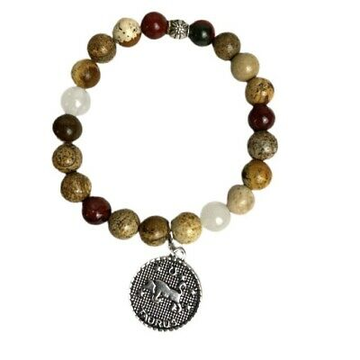 One strand lemon quartz and dalmatian jasper butterfly necklace