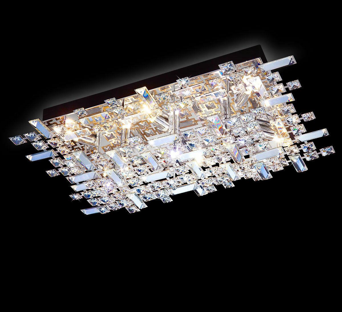 Led Xl 62cm Kristall Deckenleuchte Deckenlampe Wohnzimmer Wand Lampe Leuchte