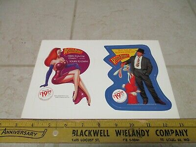VTG NOS Who Framed Roger Rabbit Movie Advertising Sign Standup Cardboard Display