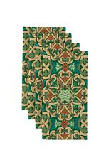 "Tossed Shamrocks Deep Forest Green 18/"" x 18/"" Napkins 4 Pack"