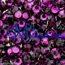 3000pcs Dark Purple 2mm ss6 Flat Back Resin Rhinestones Embellishment Gems C21