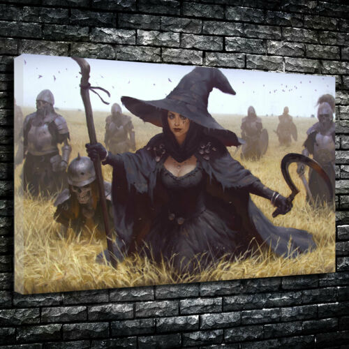 """/""""The Harvest Witch/"""" Printed Canvas Picture Multiple Sizes 30mm Deep"""