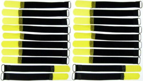 Eyelet 20 Velcro Cable Ties 160 x 16 mm yellow cable Velcro Cable Velcro Velcro M