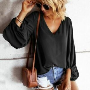 Elegant-Top-Pullover-Loose-Long-Sleeve-Blouse-Casual-Jumper-Fashion-New-O-Neck
