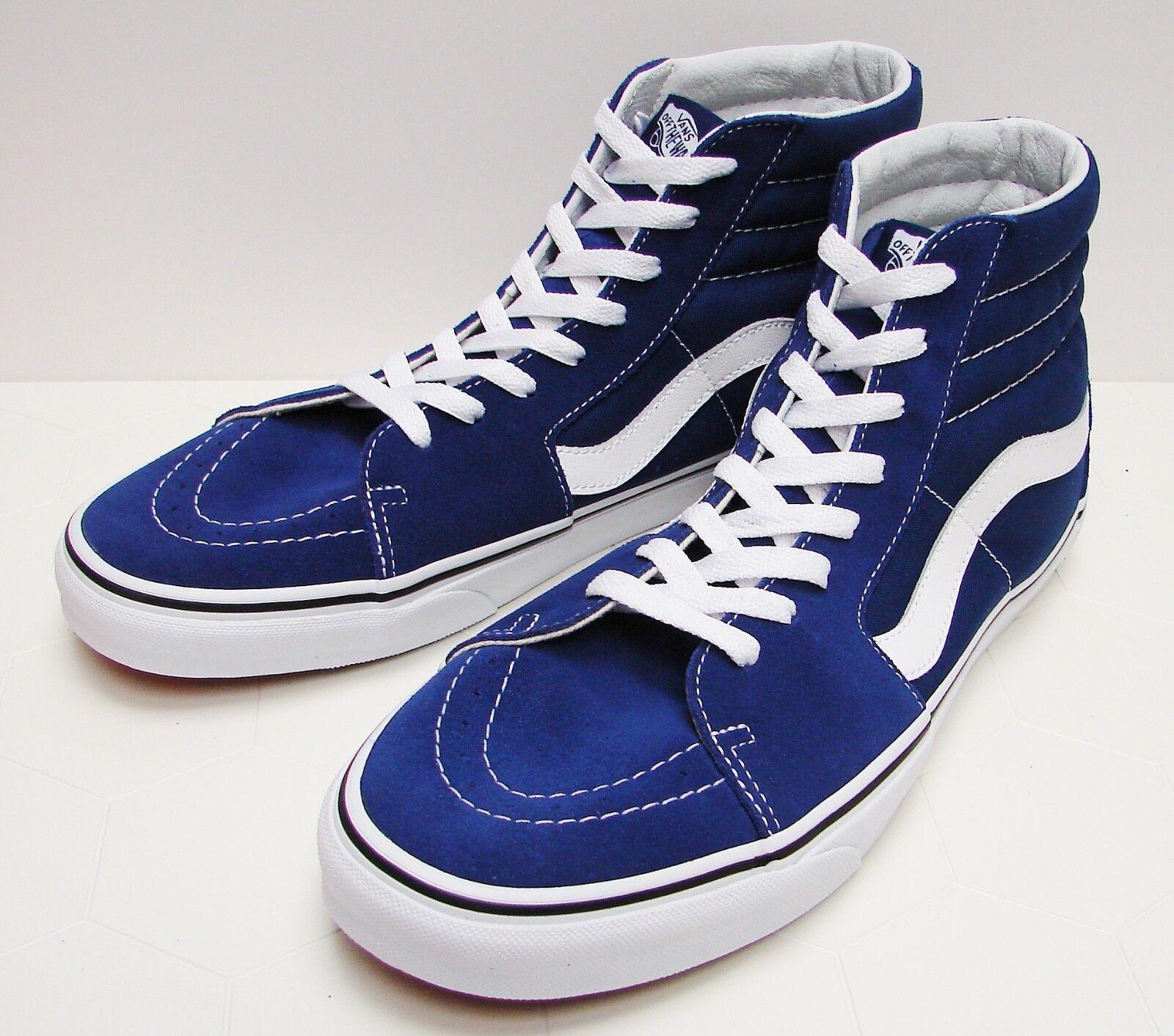 VANS SK8-HI Estate bluee  True White VN-0A38GEQ9W Men's size  10