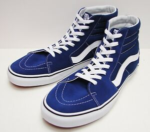 56cd2fc3d3b6 VANS SK8-HI Estate Blue  True White VN-0A38GEQ9W Men s size  10