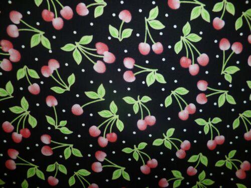 FQ tessuto Ciliegia Ciliegie Frutta Cibo Rockabilly